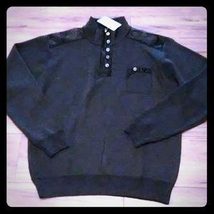 Gray & Black sweater